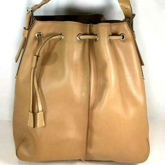 Francesco Biasia Tan Leather Shoulder Bag